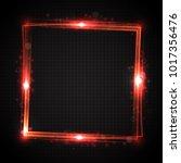 shiny frame. transparent light... | Shutterstock .eps vector #1017356476