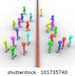 3d colored people on white... | Shutterstock . vector #101735740