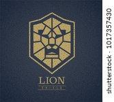 lion head shield logo. eps8.... | Shutterstock .eps vector #1017357430