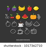 miscellaneous food vector set... | Shutterstock .eps vector #1017362710