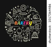bakery colorful gradient with... | Shutterstock .eps vector #1017364486