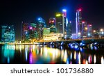 night view of the city  with... | Shutterstock . vector #101736880