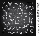 hand drawn doodle arrows set... | Shutterstock .eps vector #1017369688