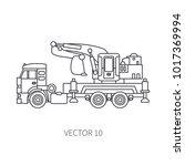 line flat vector icon... | Shutterstock .eps vector #1017369994