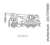 line flat vector icon... | Shutterstock .eps vector #1017370000