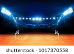 basketball arena field with... | Shutterstock .eps vector #1017370558