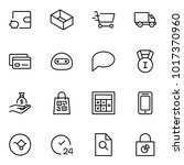 e commerce flat icon set .... | Shutterstock .eps vector #1017370960