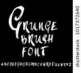 handdrawn dry brush font.... | Shutterstock .eps vector #1017372640