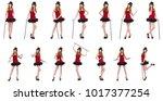 Girl In Red Polka Dot Dress...