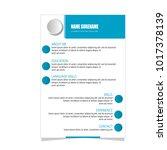 resume curriculum vitae... | Shutterstock .eps vector #1017378139