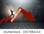 businessman pole vaulting over...   Shutterstock . vector #1017382213
