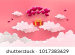 illustrations of love and... | Shutterstock .eps vector #1017383629