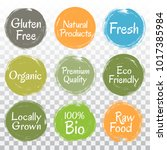 fresh raw food  eco friendly... | Shutterstock .eps vector #1017385984