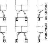 fashionable handbags. black and ...   Shutterstock .eps vector #1017386080