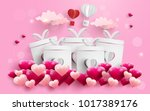 illustration of love and... | Shutterstock .eps vector #1017389176