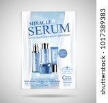 luxury cosmetic bottle package... | Shutterstock .eps vector #1017389383