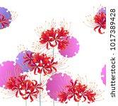 japanese style cluster... | Shutterstock .eps vector #1017389428