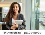 waist up portrait of attractive ...   Shutterstock . vector #1017390970