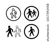 street cross set icon template... | Shutterstock .eps vector #1017392458