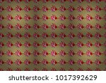 floral composition  hand... | Shutterstock . vector #1017392629