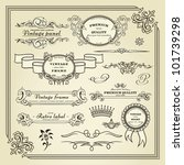 set of design elements  labels  ... | Shutterstock .eps vector #101739298