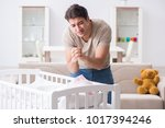 young father dad frustrated at... | Shutterstock . vector #1017394246