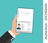international male passport in... | Shutterstock .eps vector #1017402034