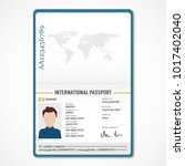 international male passport... | Shutterstock .eps vector #1017402040