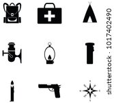 survival kit icon set | Shutterstock .eps vector #1017402490