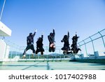 japanese high school students... | Shutterstock . vector #1017402988