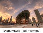 dubai  uae   2018   dubai opera ...   Shutterstock . vector #1017404989