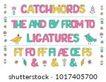 cute set of colorful smiling... | Shutterstock .eps vector #1017405700