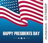 happy presidents day... | Shutterstock .eps vector #1017406009