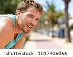 sweating fitness man tired... | Shutterstock . vector #1017406066