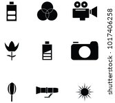 photographic equipment icon set   Shutterstock .eps vector #1017406258