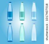 water bottles set. vector... | Shutterstock .eps vector #1017407518