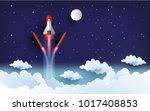 illustration of the shuttle.... | Shutterstock .eps vector #1017408853