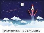 illustration of the shuttle.... | Shutterstock .eps vector #1017408859