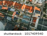top view street town in penang  ... | Shutterstock . vector #1017409540