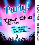 party flyer vector template | Shutterstock .eps vector #101740966