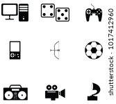 hobby icon set   Shutterstock .eps vector #1017412960