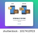 flat line illustration for web... | Shutterstock .eps vector #1017413923