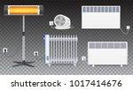 electric oil radiator  heater... | Shutterstock .eps vector #1017414676