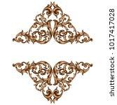 classical baroque vector of... | Shutterstock .eps vector #1017417028