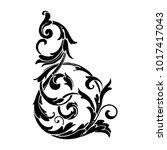 classical baroque vector of... | Shutterstock .eps vector #1017417043