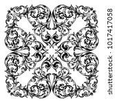 classical baroque vector of... | Shutterstock .eps vector #1017417058