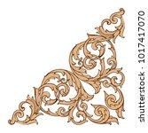 classical baroque vector of... | Shutterstock .eps vector #1017417070