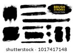 set of black paint  ink  grunge ... | Shutterstock .eps vector #1017417148