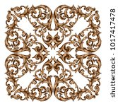 classical baroque vector of... | Shutterstock .eps vector #1017417478