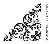 classical baroque vector of... | Shutterstock .eps vector #1017417490